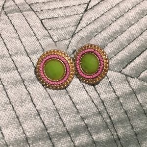 Pink and Green Studs
